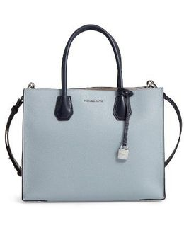 Large Mercer Colorblock Leather Tote
