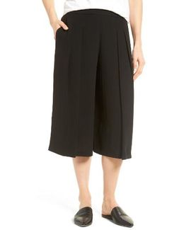 Pleated Silk Culottes