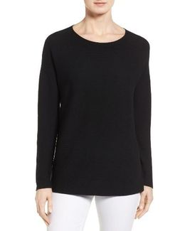 Boxy Ribbed Wool Sweater