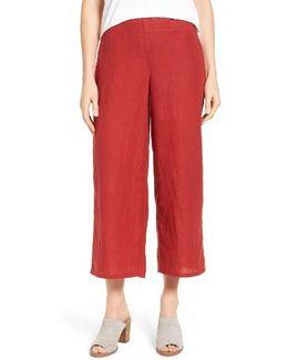 Organic Linen Crop Wide Leg Pants