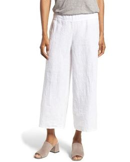 Organic Linen Crop Wide Leg Pants