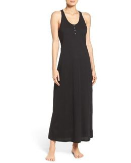 Henley Jersey Long Nightgown