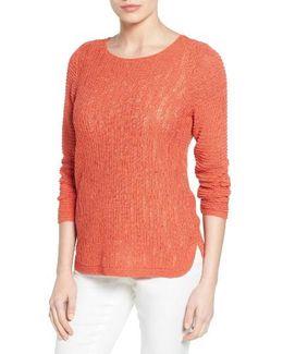 Sheer Dusk Cotton Blend Layering Sweater