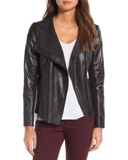 Raw Edge Leather Jacket