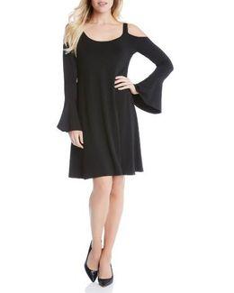 Cold Shoulder Bell Sleeve Dress