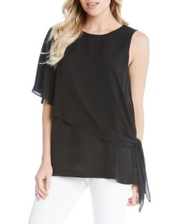 Side Tie Asymmetrical Top