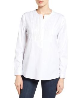 Pintuck Bib Tunic Shirt