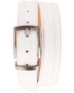 Golf 'g-flex Tripunto' Leather Belt