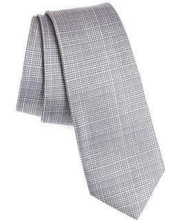 Saffron Solid Silk Skinny Tie