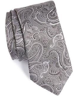 Floating Paisley Silk Tie