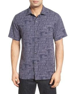 Thatch Of The Day Silk Blend Camp Shirt