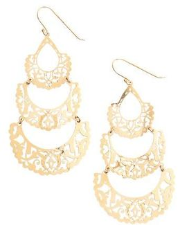 Laser Cut Drop Earrings