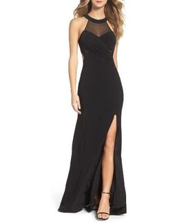 Mesh & Jersey Gown