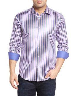 Shaped Fit Stripe Sport Shirt