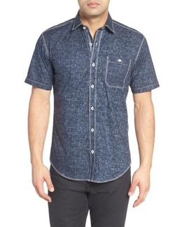Shaped Fit Solid Sport Shirt