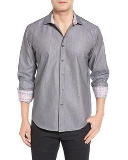 Shaped Fit Textured Sport Shirt