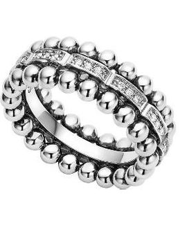 Caviar Spark Diamond Band Ring