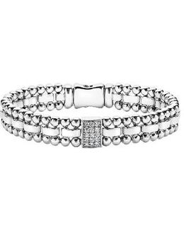 Caviar Spark Diamond Rectangle Link Bracelet