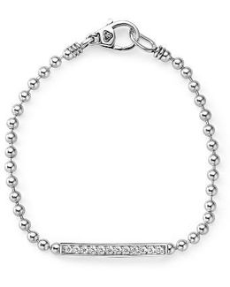 Caviar Spark Diamond Bar Chain Bracelet