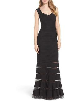 Mesh Inset Gown
