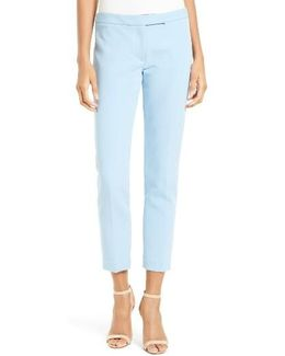 Stretch Crepe Cigarette Pant