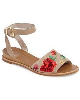 Jory Embroidered Sandal