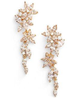Flower Linear Drop Earrings