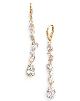 Ava Linear Drop Earrings