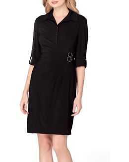 Jersey Wrap Shirtdress
