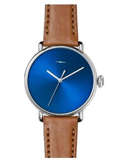 Bolt Leather Strap Watch