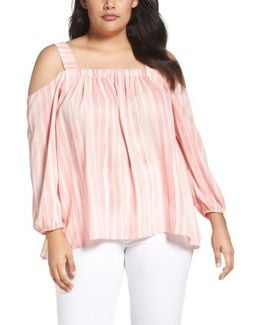 Graceful Phrases Cold Shoulder Blouse