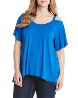Flutter Cold Shoulder Top