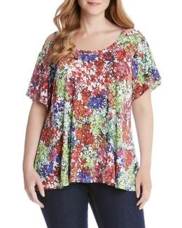 Flutter Sleeve Cold Shoulder Top