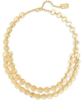 Ariane Coin Collar Necklace