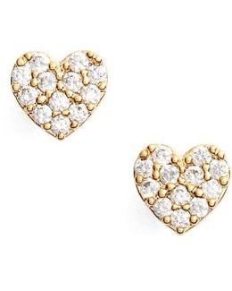 Shine Bright Heart Stud Earrings