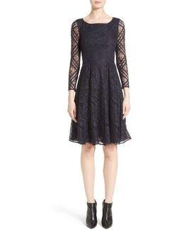 Liliana Lace Fit & Flare Dress