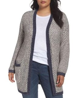 Caslon Textured Open Front Cardigan