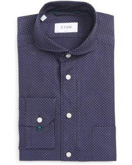 Slim Fit Microdot Dress Shirt
