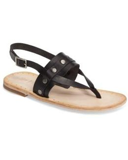 Avery Stud Flat Sandal