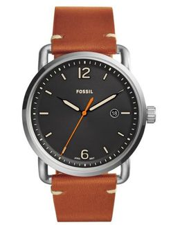 The Commuter Leather Strap Watch
