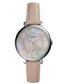 Jacqueline Leather Strap Watch