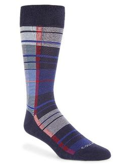 Madras Plaid Crew Socks