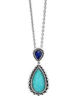 Maya Semiprecious Stone Pendant Necklace