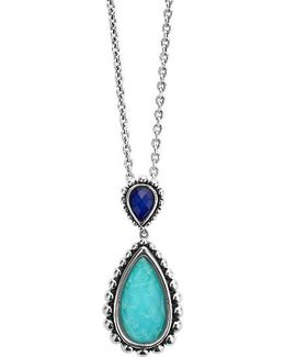 Maya Semiprecious Stone Pendant Necklace