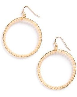 Crystal Circle Earrings