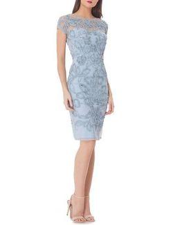Soutache Sheath Dress