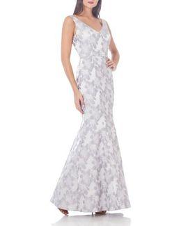 Jacquard Mermaid Gown