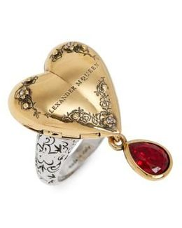 Jeweled Locket Ring