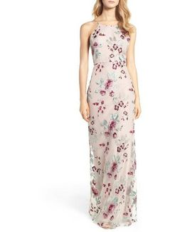 Claire Floral Embroidered Gown