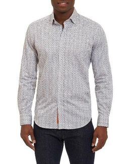 Phillip Tailored Fit Print Sport Shirt